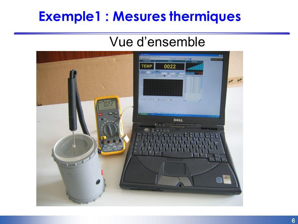 6 Exemple1 : Mesures thermiques Vue densemble
