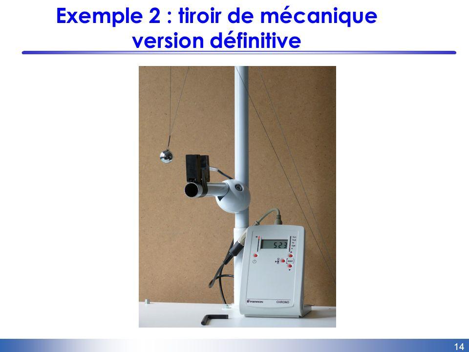 14 Exemple 2 : tiroir de mécanique version définitive