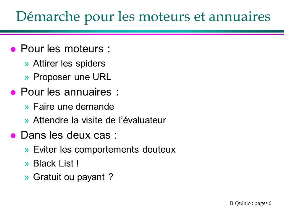 B Quinio : pages 27 Mesure daudience dun site l Mesure « User centric » »Panel de consommateur »29000 pour Médiamétrie »http://www.mediametrie.fr/home_departement.ph p?rubrique=nethttp://www.mediametrie.fr/home_departement.ph p?rubrique=net »http://www.comscore.com/fr/http://www.comscore.com/fr/