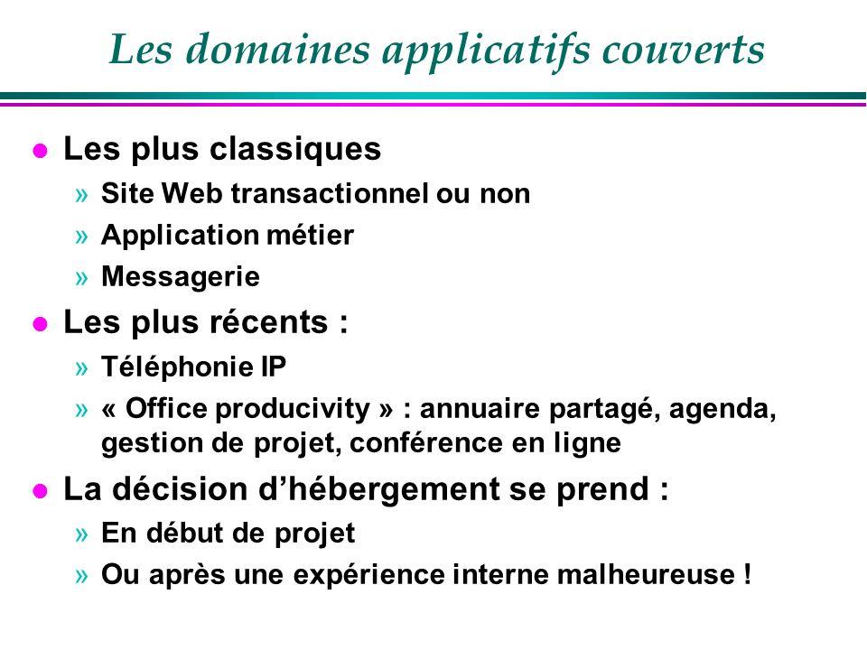 Fournisseurs de services l Une nouvelle catégorie l Fournir des services et plus des logiciels l Exemples : »http://www.google.com/a/help/intl/fr/business/i ndex.htmlhttp://www.google.com/a/help/intl/fr/business/i ndex.html »https://www.salesforce.com/fr/https://www.salesforce.com/fr/