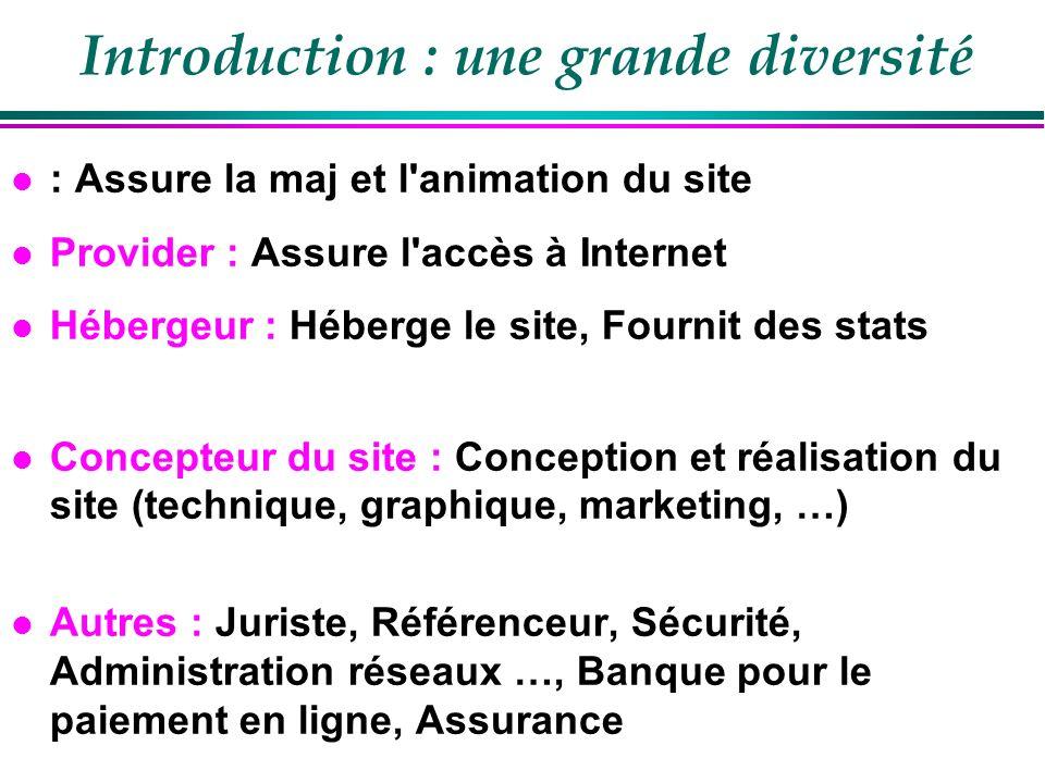 Introduction : des tarifs variés .
