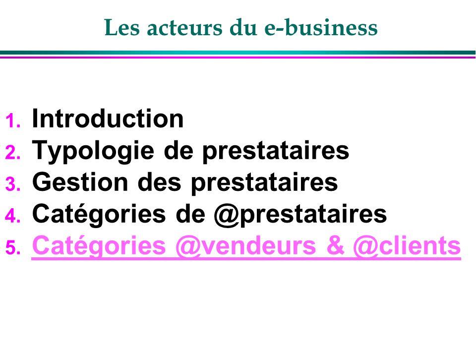 Les @vendeurs et @clients du @business 1. Les secteurs en pointe 2. Différence B2B et B2C