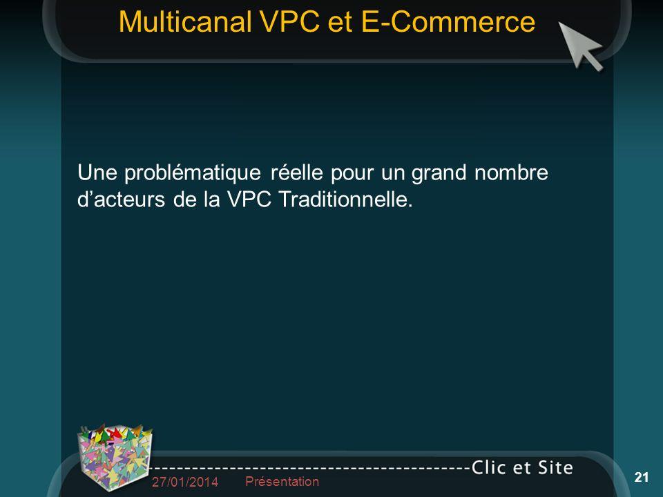 Une problématique réelle pour un grand nombre dacteurs de la VPC Traditionnelle.