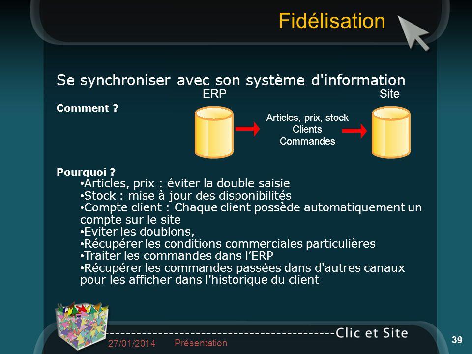 Fidélisation Se synchroniser avec son système d information Comment .