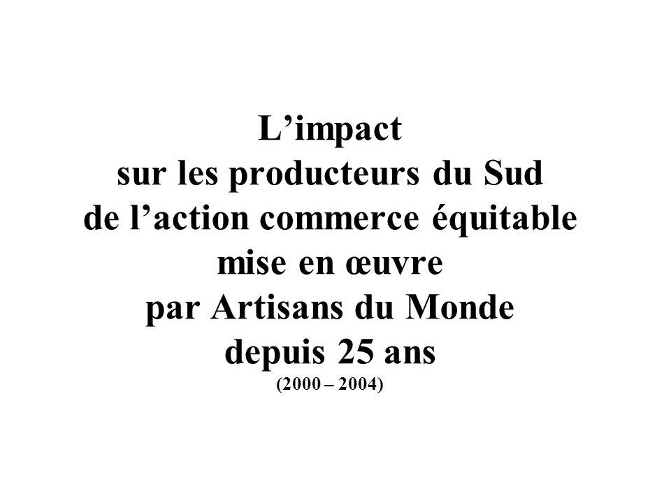 Limpact sur les producteurs du Sud de laction commerce équitable mise en œuvre par Artisans du Monde depuis 25 ans (2000 – 2004)