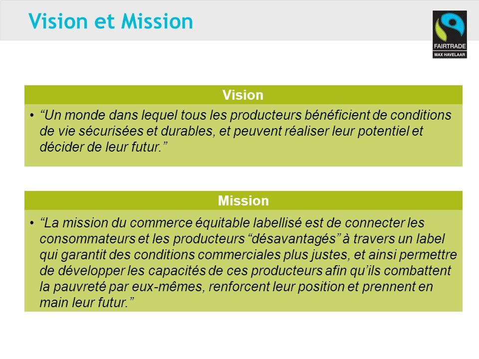 Vision Un monde dans lequel tous les producteurs bénéficient de conditions de vie sécurisées et durables, et peuvent réaliser leur potentiel et décider de leur futur.
