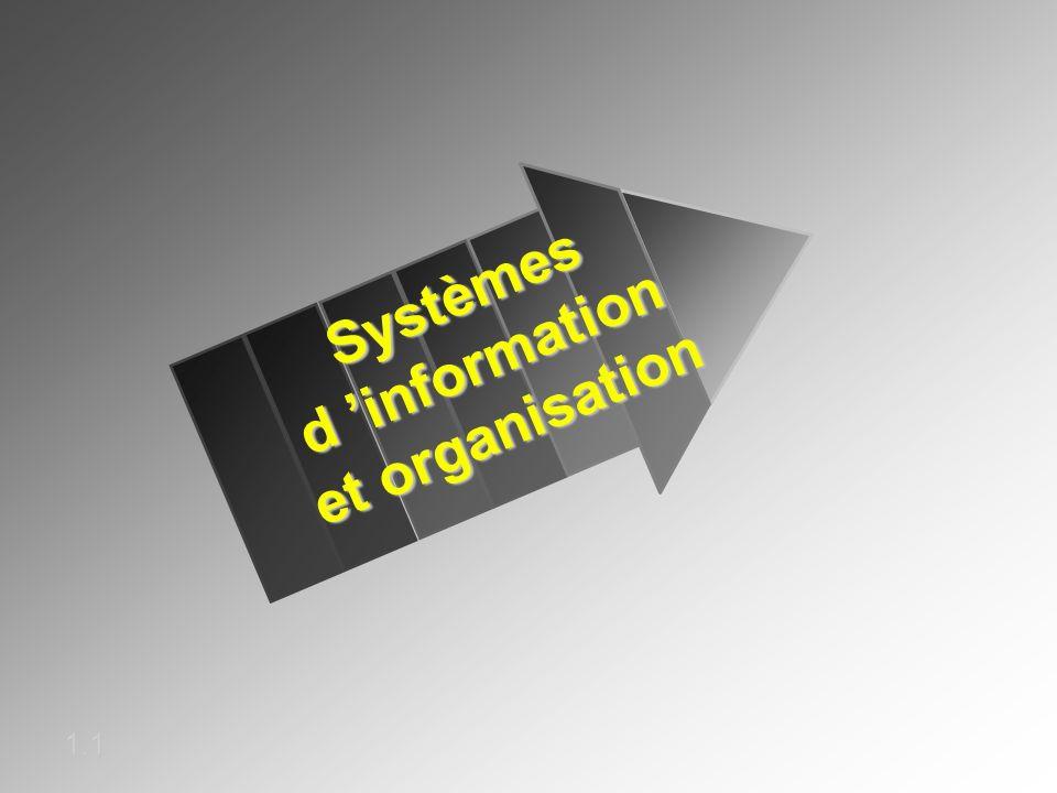 Systèmes d information et organisation 1.1