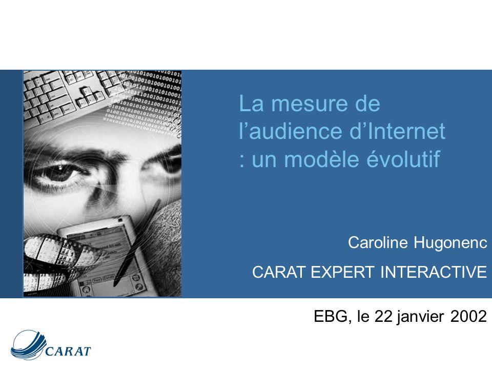 La mesure de laudience dInternet : un modèle évolutif EBG, le 22 janvier 2002 Caroline Hugonenc CARAT EXPERT INTERACTIVE