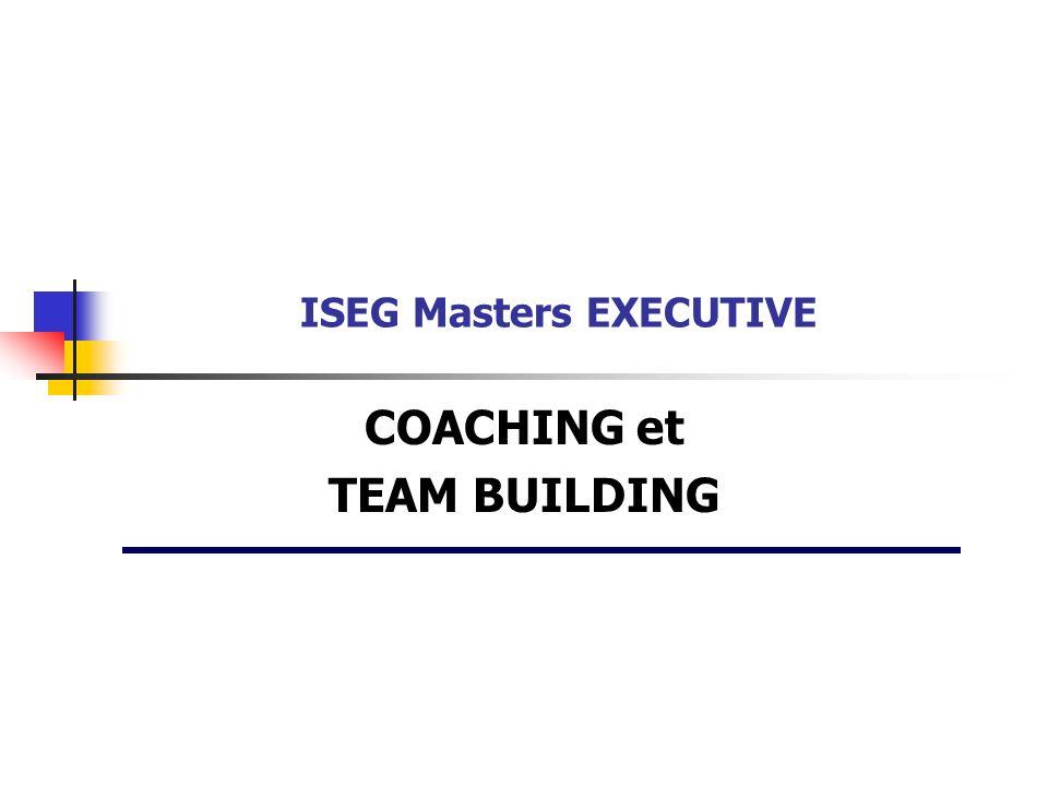 COACHING et TEAM BUILDING ISEG Masters EXECUTIVE