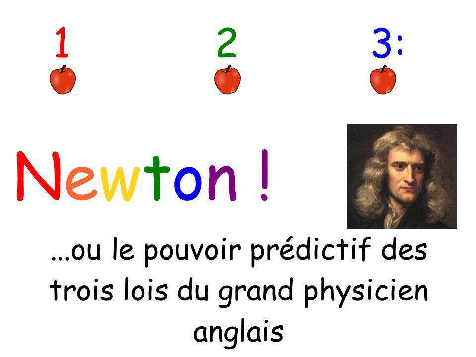 Newton ! 123:...ou le pouvoir prédictif des trois lois du grand physicien anglais