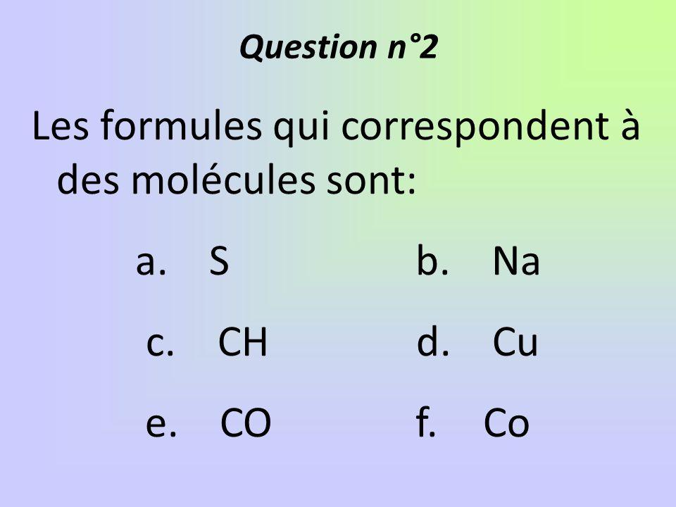 Le BROME a pour symbole Br. Le dibrome a pour formule: a. 2 brb. 2Br c. Br 2 d.br 2 Question n°3