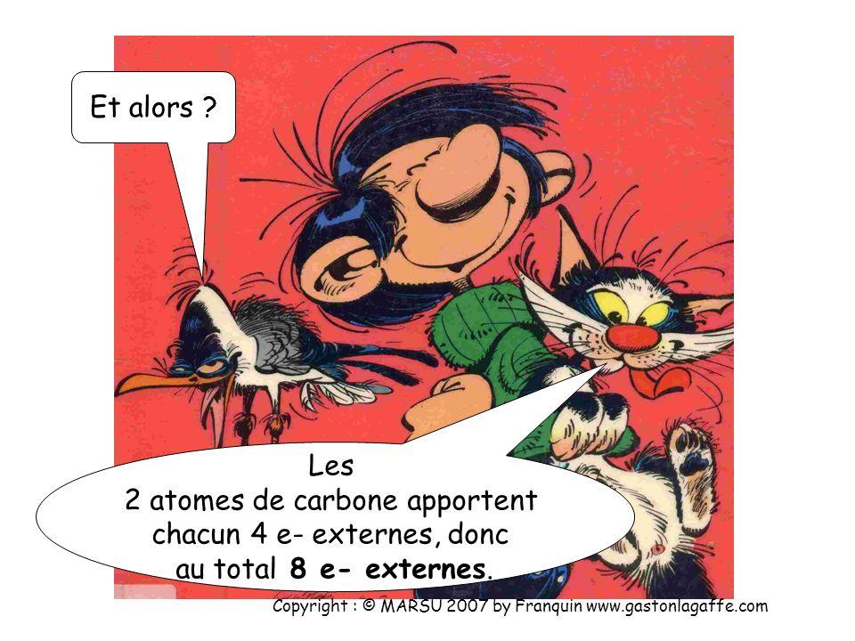 Cl : (K) 2 (L) 8 (M) 7 donc il manque 1 e- à l atome de chlore pour avoir une structure en -(M) 8. Il est donc monovalent. Copyright : © MARSU 2007 by