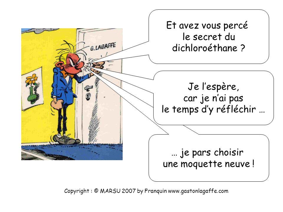 Copyright : © MARSU 2007 by Franquin www.gastonlagaffe.com Et oui 13 doublets à distribuer ! Ecoutez les quelques conseils de votre professeur