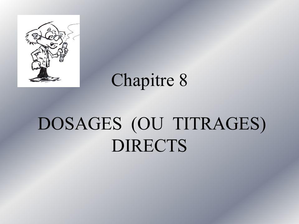 1) Objectif dun dosage Déterminer la concentration dune espèce en solution en effectuant une réaction chimique
