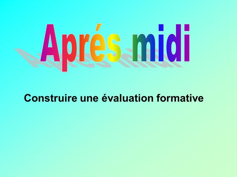 Construire une évaluation formative