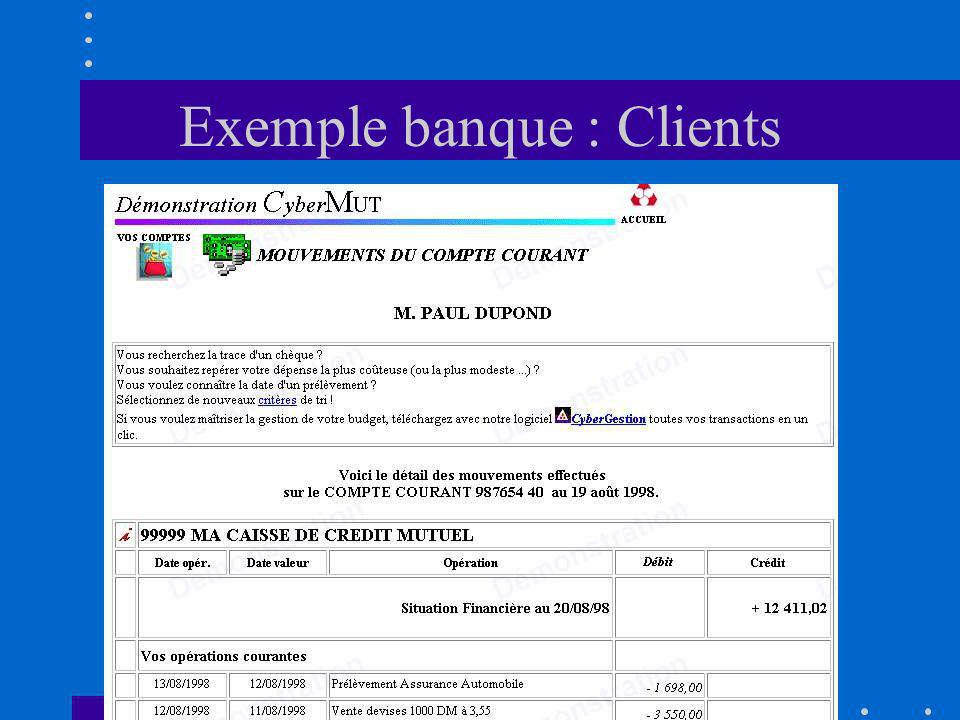 Exemple banque : Clients
