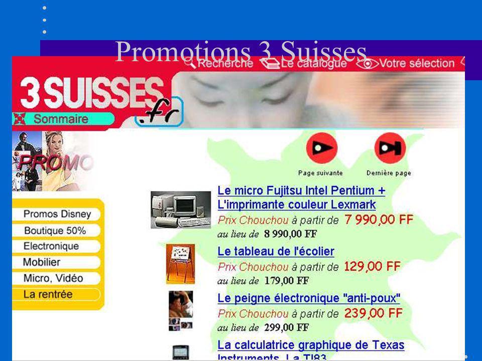 Promotions 3 Suisses