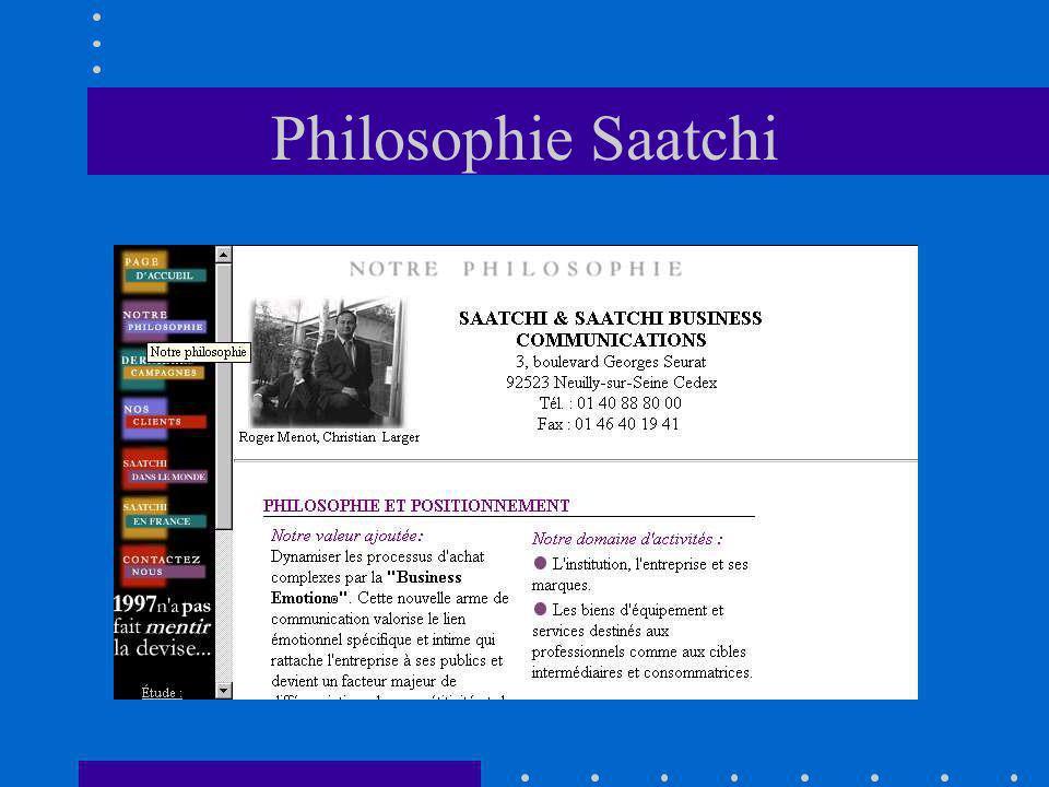 Philosophie Saatchi