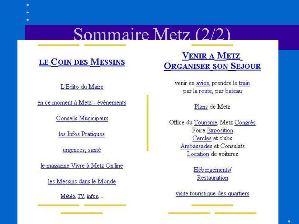 Sommaire Metz (2/2)
