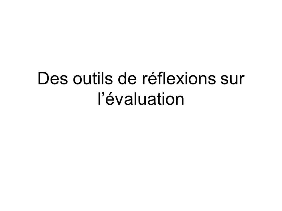 Des outils de réflexions sur lévaluation