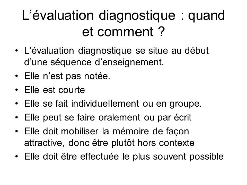 Lévaluation diagnostique : quand et comment .