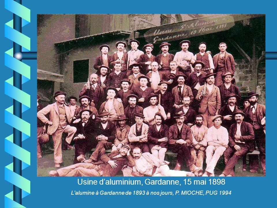 Usine daluminium, Gardanne, 15 mai 1898 Lalumine à Gardanne de 1893 à nos jours, P. MIOCHE, PUG 1994
