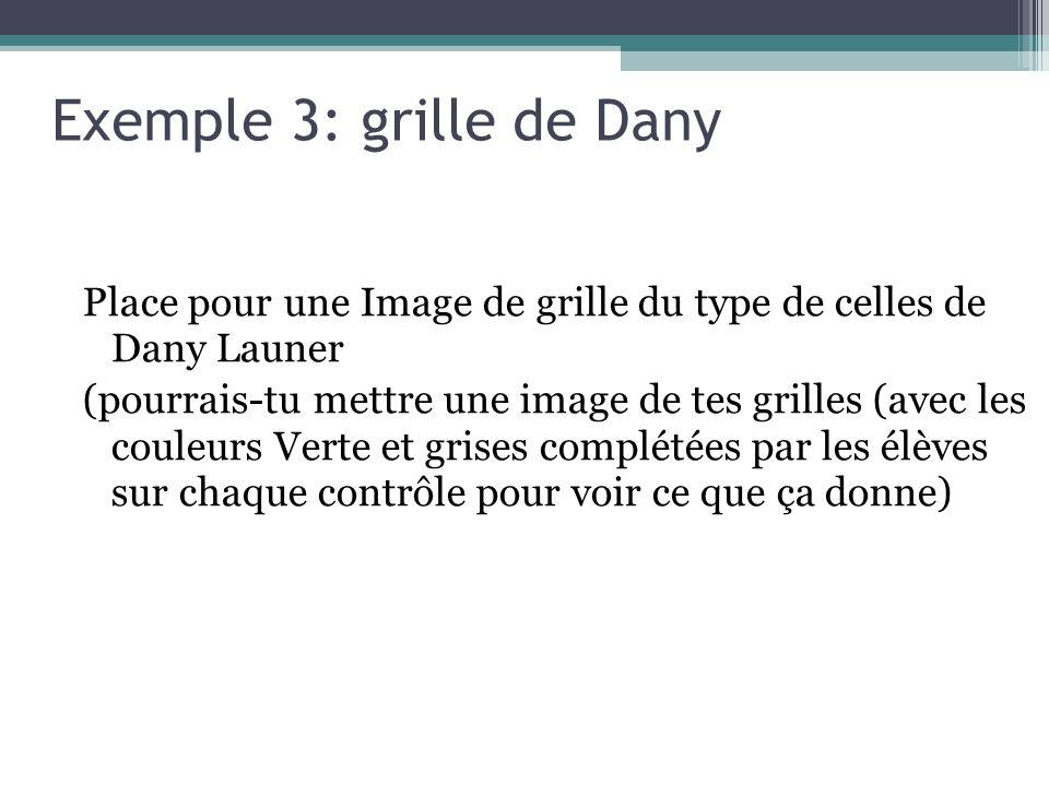 Exemple 3: grille de Dany Place pour une Image de grille du type de celles de Dany Launer (pourrais-tu mettre une image de tes grilles (avec les couleurs Verte et grises complétées par les élèves sur chaque contrôle pour voir ce que ça donne)