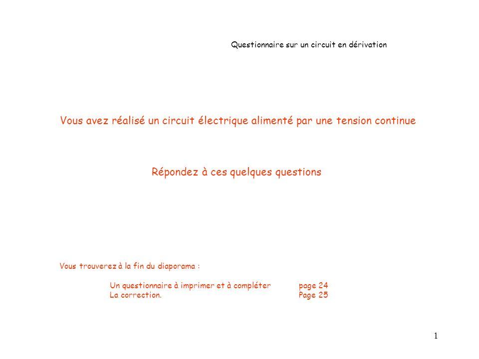 12 Question n° 9 : Le courant électrique circulera-t-il de la borne (A) vers la borne (COM) .