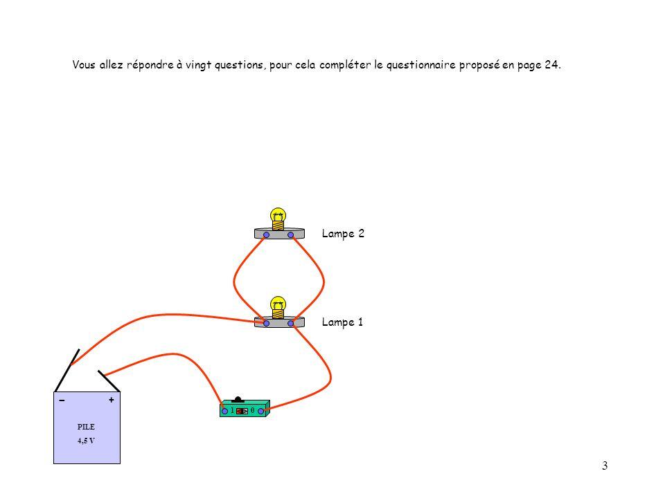 24 Questionnaire à imprimer et à compléter : Question 01: Le circuit électrique suivant est-il envisageable .