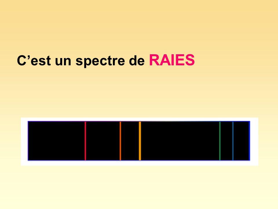Cest un spectre de RAIES