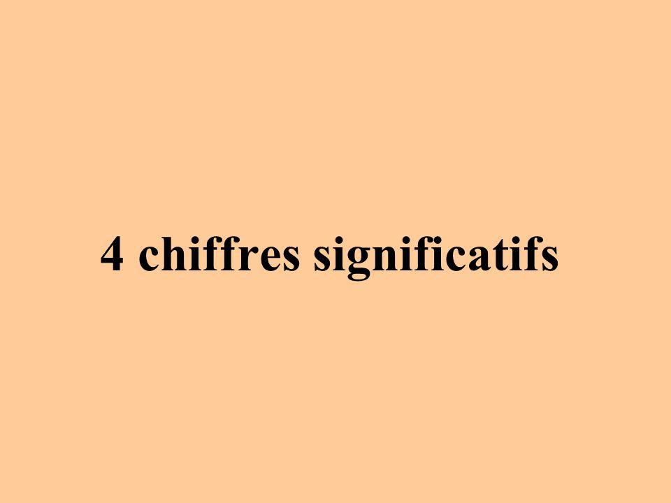 4 chiffres significatifs