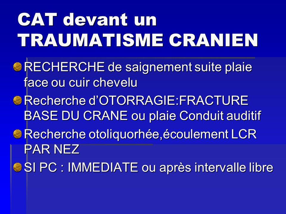 RUPTURES TRACHEO BRONCHIQUES RARES MORTALITE: 30 à 5O% Traumatisme pénétrant, trachée, bronches, carène+++ HémoptysieDyspnée Emphysème pariétal Hémo ou pneumothorax