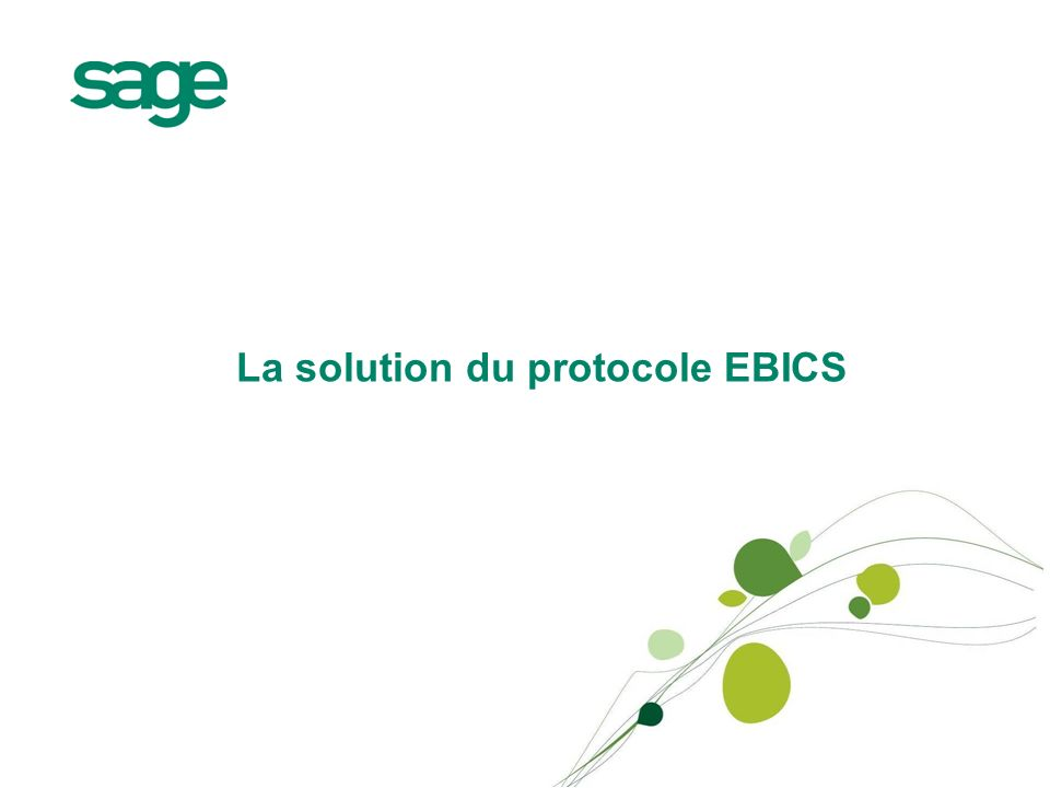 La solution du protocole EBICS