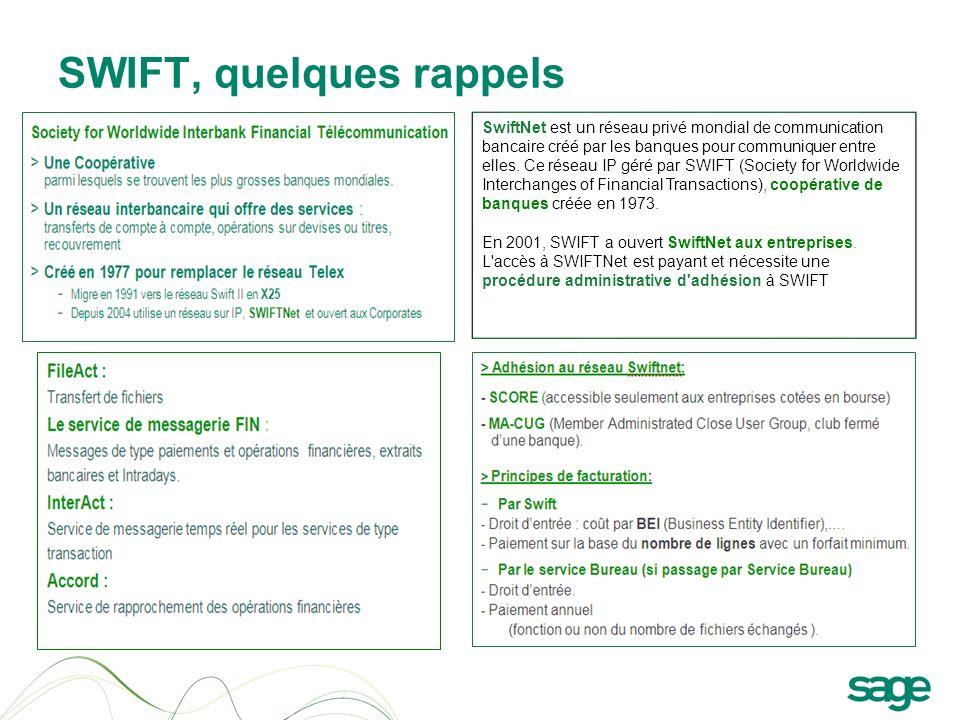 SWIFT, quelques rappels SwiftNet est un réseau privé mondial de communication bancaire créé par les banques pour communiquer entre elles. Ce réseau IP
