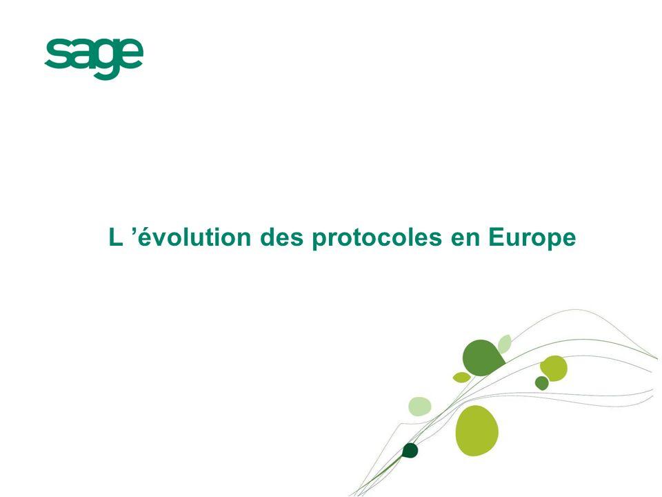 L évolution des protocoles en Europe