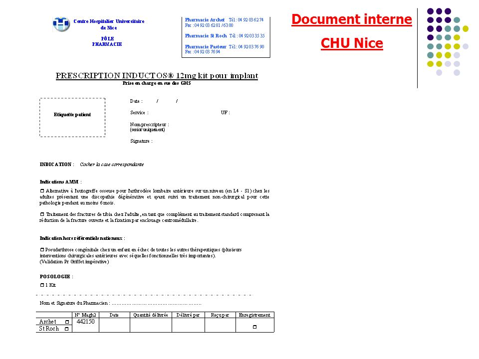 Document interne CHU Nice