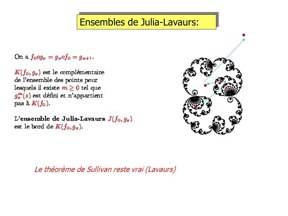 Ensembles de Julia-Lavaurs: Le théorème de Sullivan reste vrai (Lavaurs)