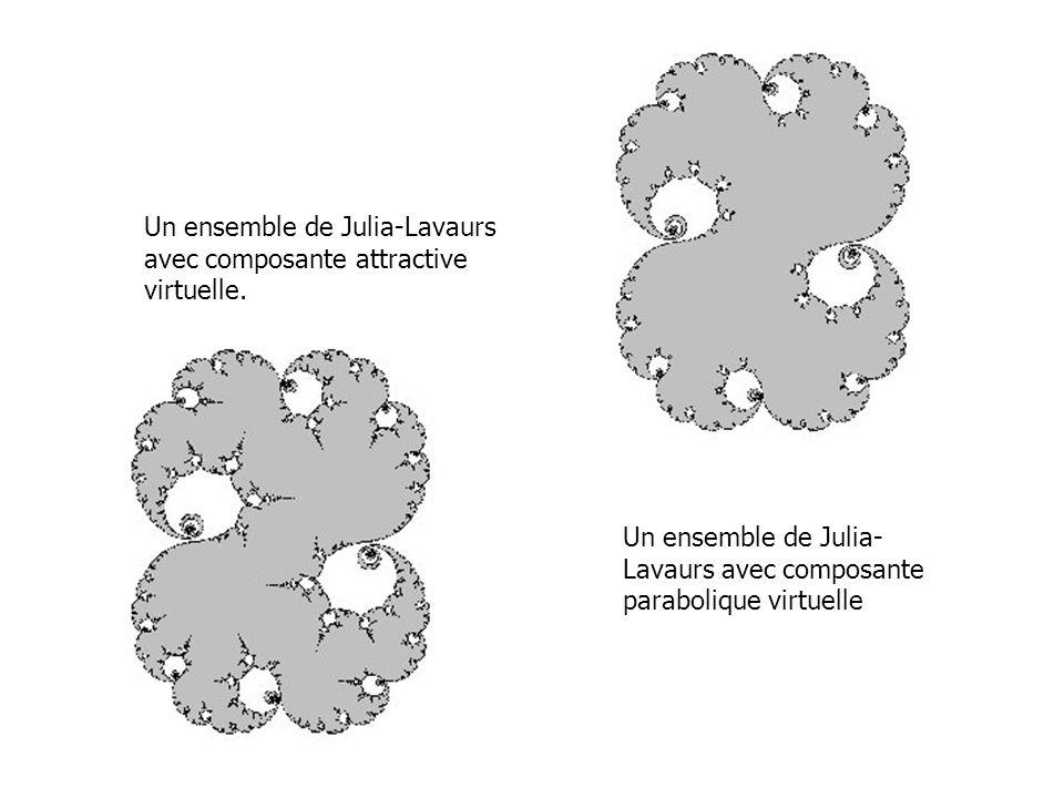 Un ensemble de Julia-Lavaurs avec composante attractive virtuelle. Un ensemble de Julia- Lavaurs avec composante parabolique virtuelle