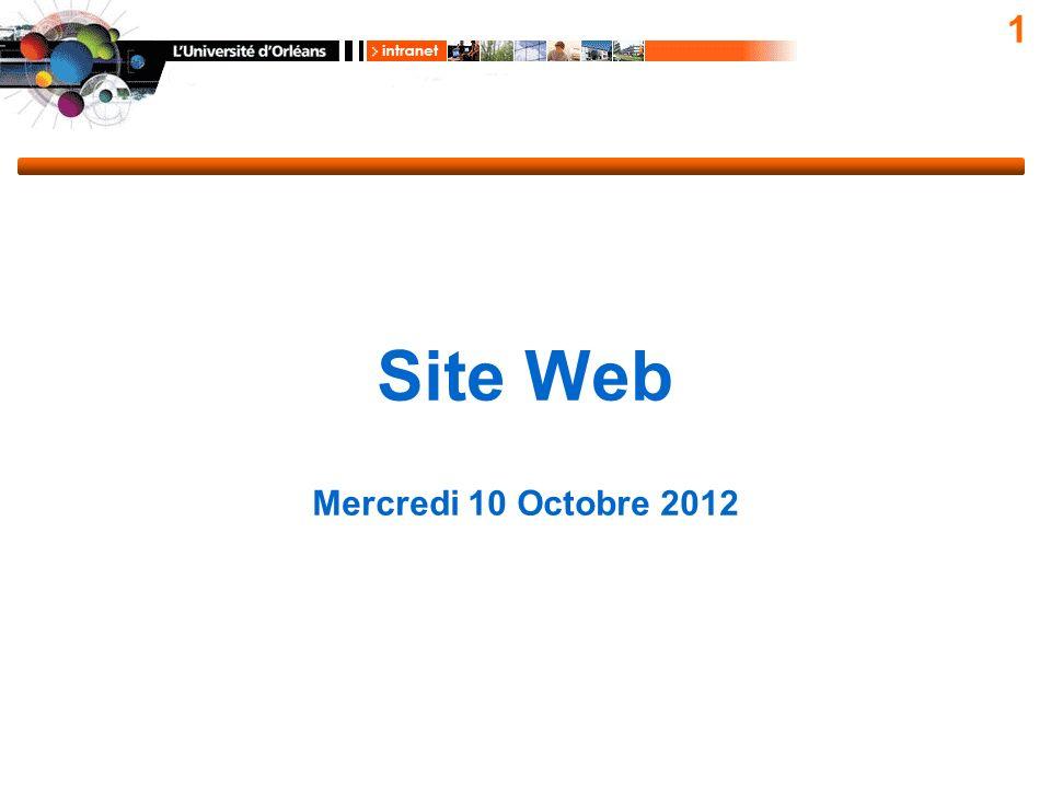 1 Site Web Mercredi 10 Octobre 2012