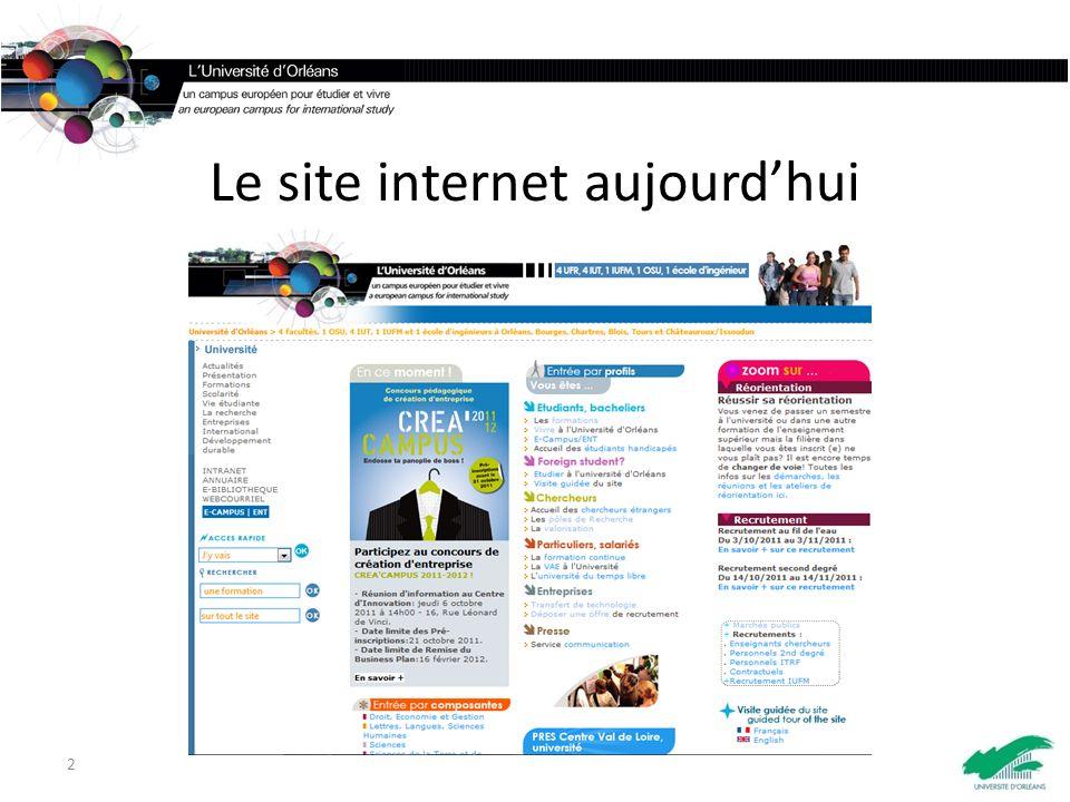 Le site internet aujourdhui 2