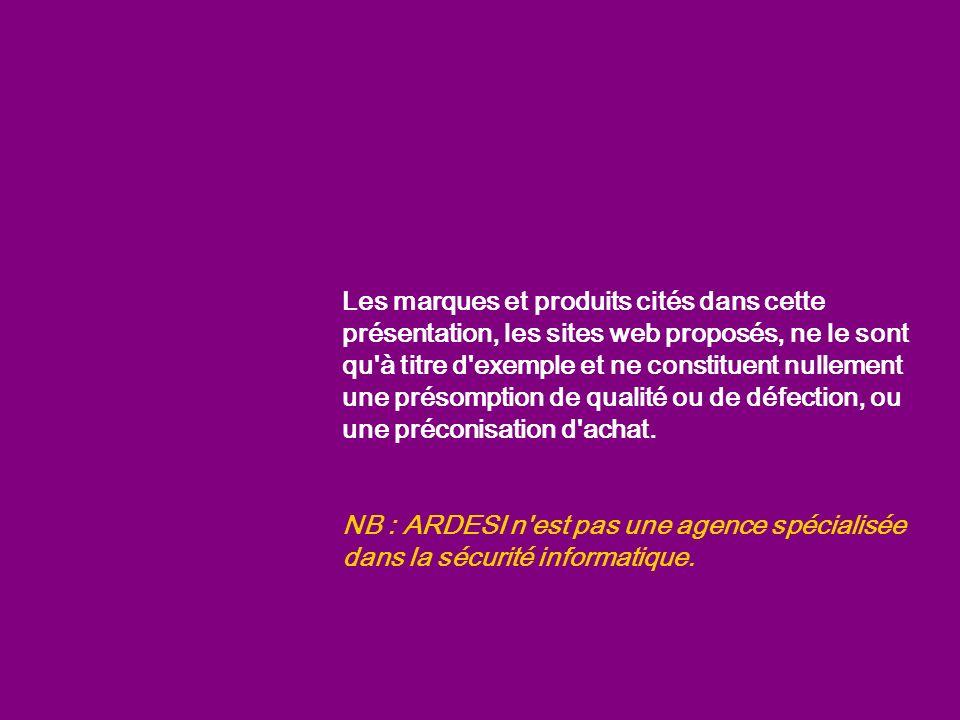 43 internet Conclusion : pour une assez bonne sécurité … Options de sécurité élevées Anti Spams, Anti Pop-ups .
