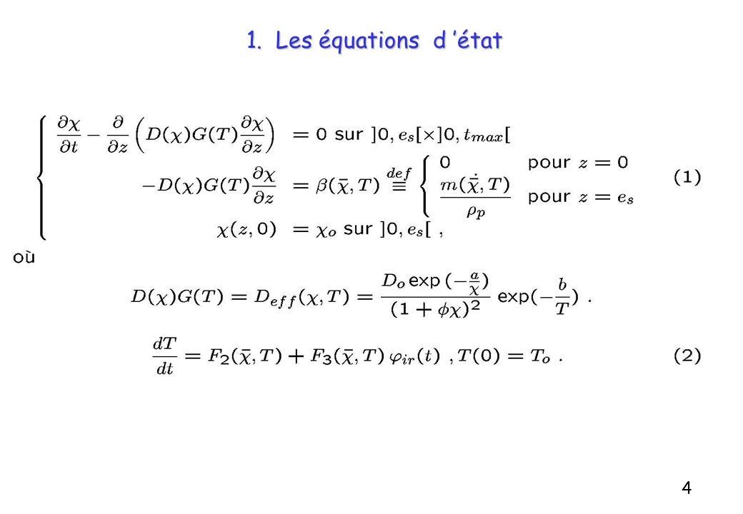 1. Les équations d état 4