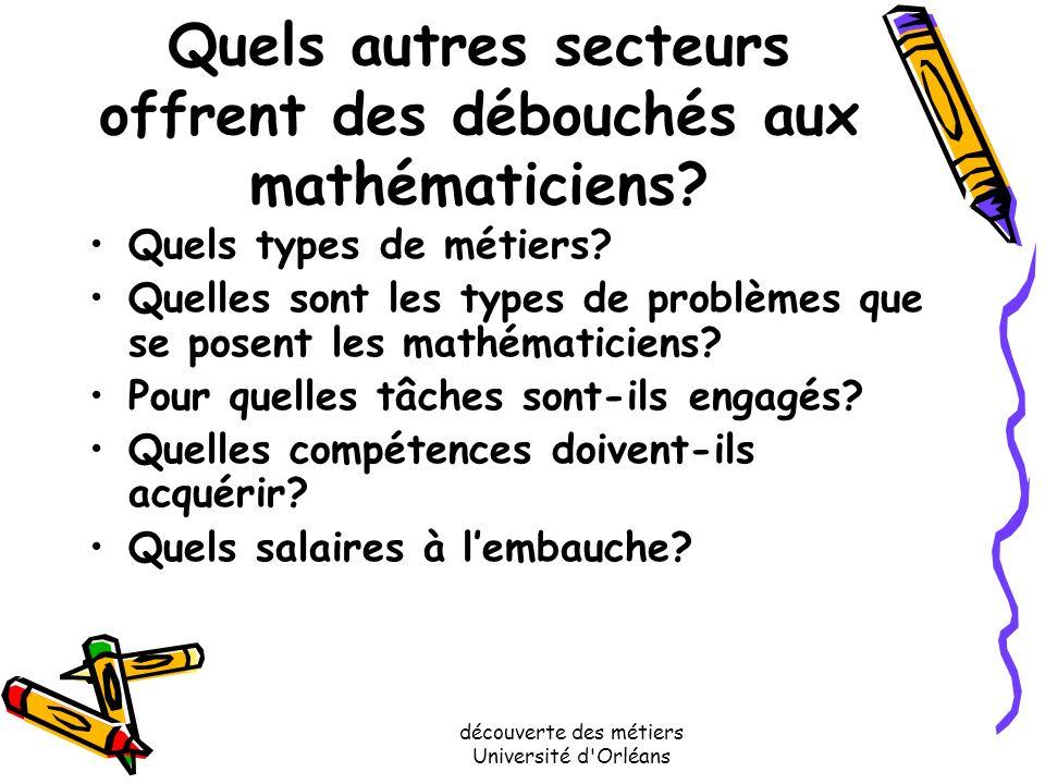découverte des métiers Université d'Orléans Le chercheur du CNRS Il fait de la recherche à temps plein Son salaire est du même ordre que celui des ens