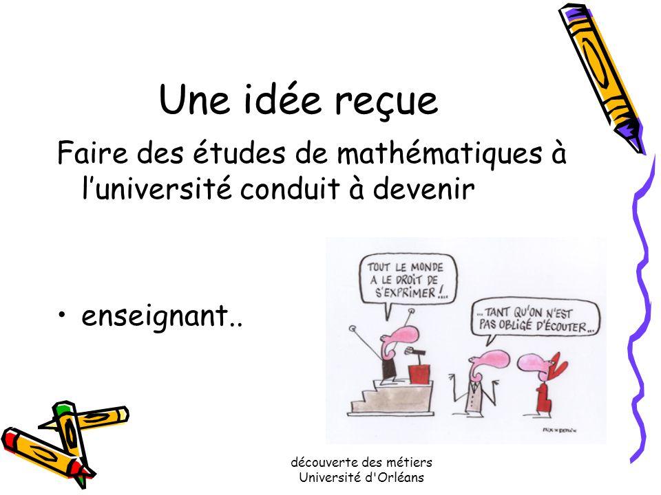Des études en mathématiques….pour faire quoi? Isabelle VAN DEN BOOM et Sophie JACQUOT