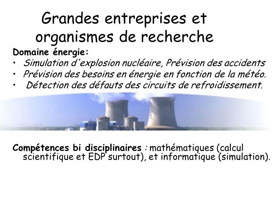 découverte des métiers Université d'Orléans Grandes entreprises et organismes de recherche De solides compétences pluridisciplinaires à avoir: en math