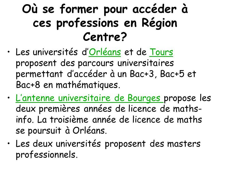 découverte des métiers Université d'Orléans Quelques remarques: Parmi tous les métiers présentés,dans tous les problèmes posés, on se rend compte quil