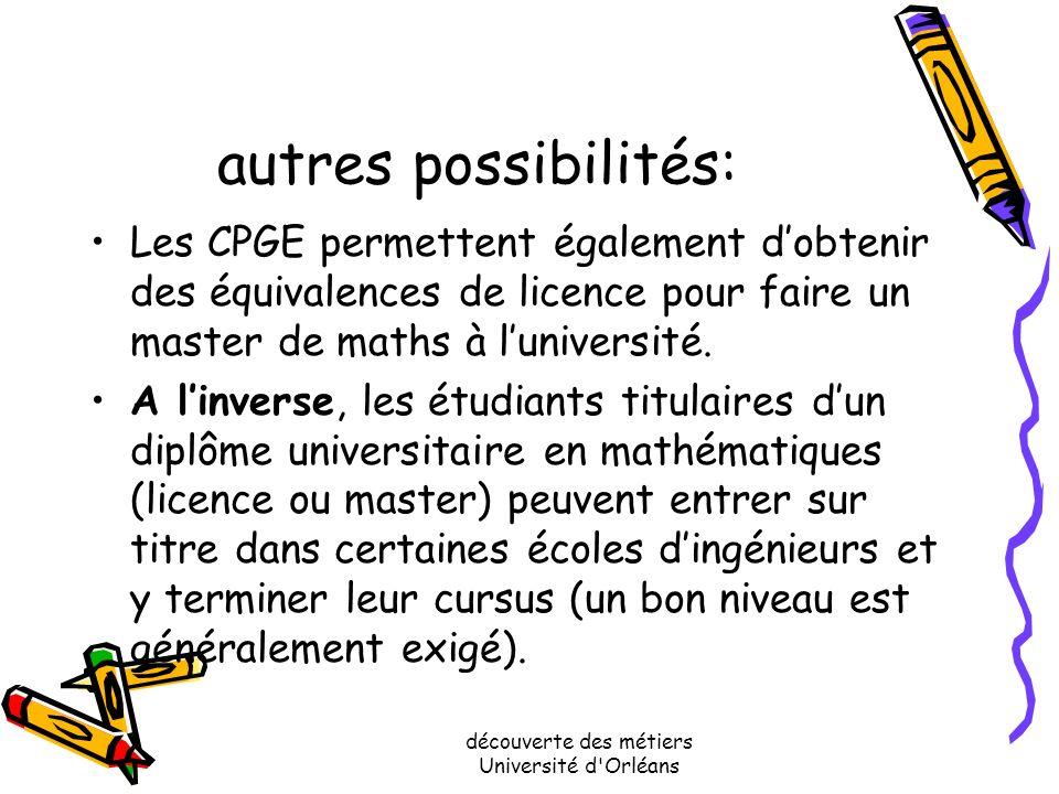 Où se former pour accéder à ces professions en Région Centre? Les universités dOrléans et de Tours proposent des parcours universitaires permettant da