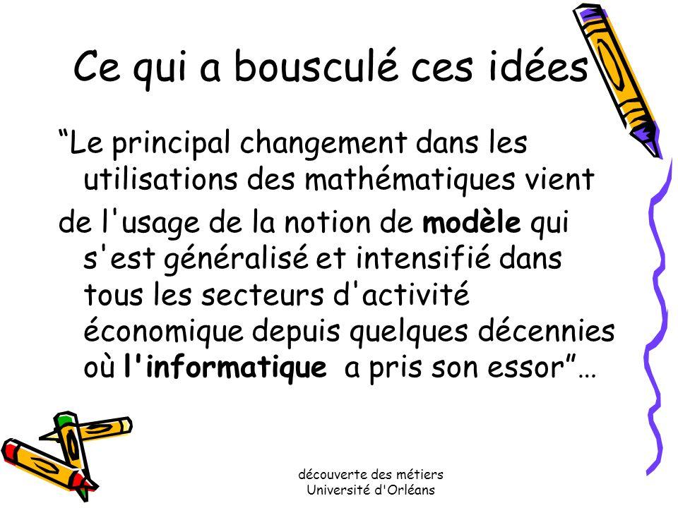 découverte des métiers Université d'Orléans et pourtant…après avoir suivi des études de mathématiques La liste des métiers auxquels on peut accéder es
