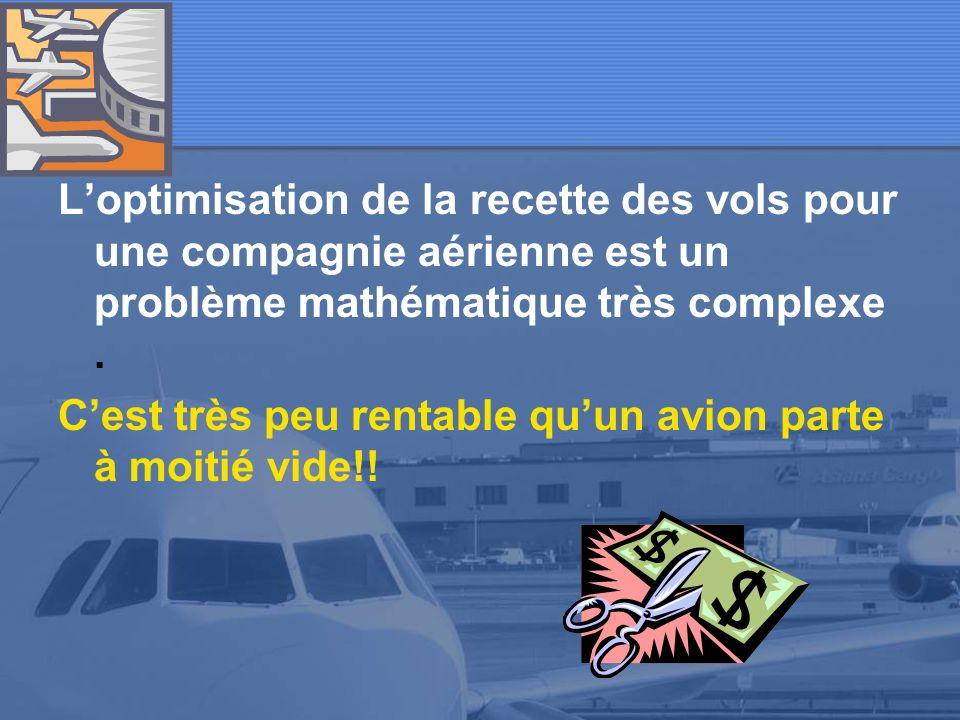 «analyste gestionnaire de vols» dans une compagnie aérienne Le problème du surbooking
