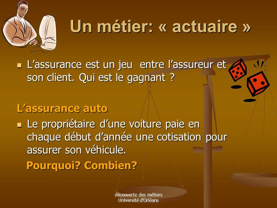 découverte des métiers Université d'Orléans « La circoncision est conseillée pour se protéger du sida » : Journal LE MONDE du 28.03.07 L'Organisation